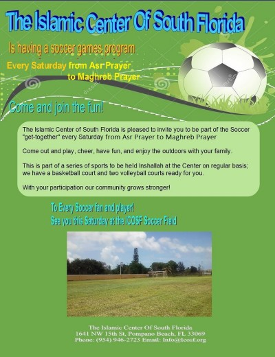 Saturday Soccer  flyer  8 5 X 11