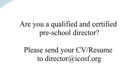 Position offered: Qualified Pre-School Director